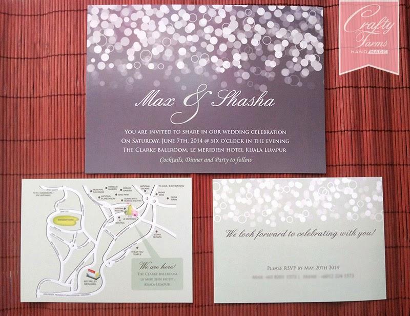 Confetti Classic Flat Wedding Card Le Meridien Hotel Kuala Lumpur