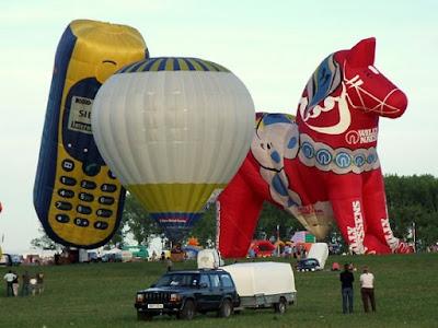Dala Horse Mobile Phone Special Shape Balloons