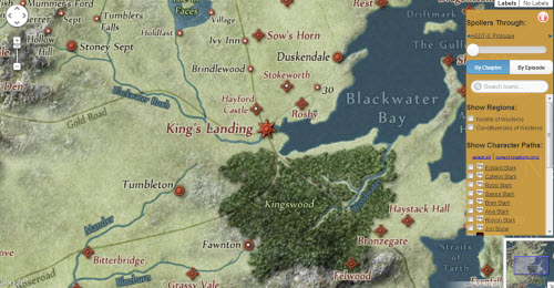 Mapa interactivo de Game Of Thrones