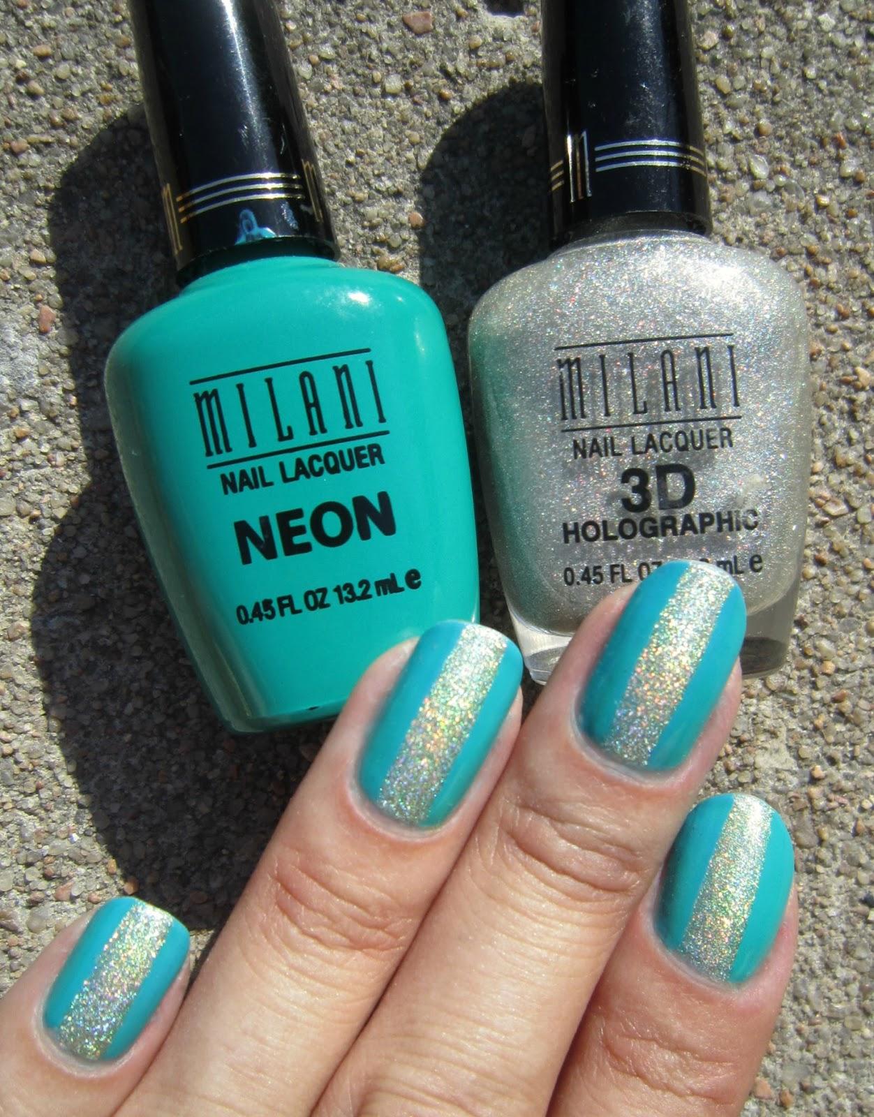 Concrete and nail polish simple nail art with milani