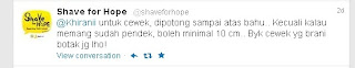 screen shoot dari twitter shaveforhope