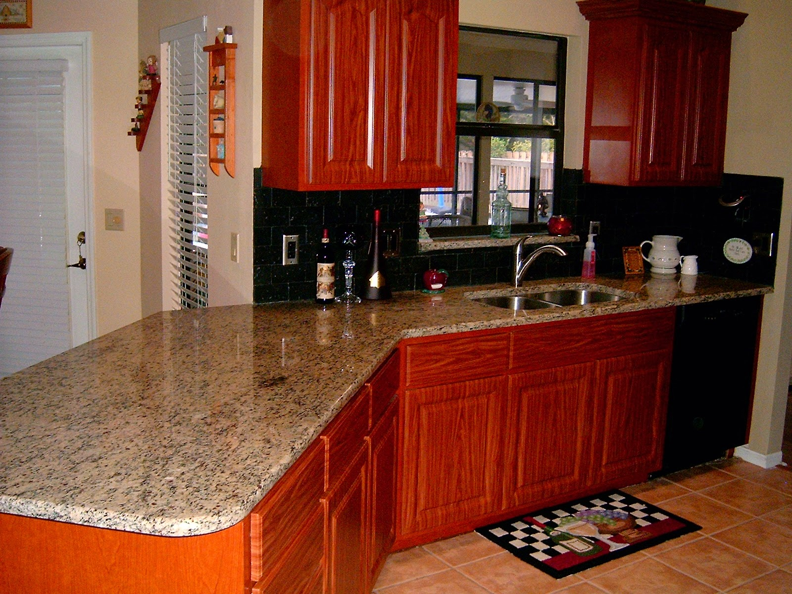 April seven beautify your kitchen for Cherry cabinets