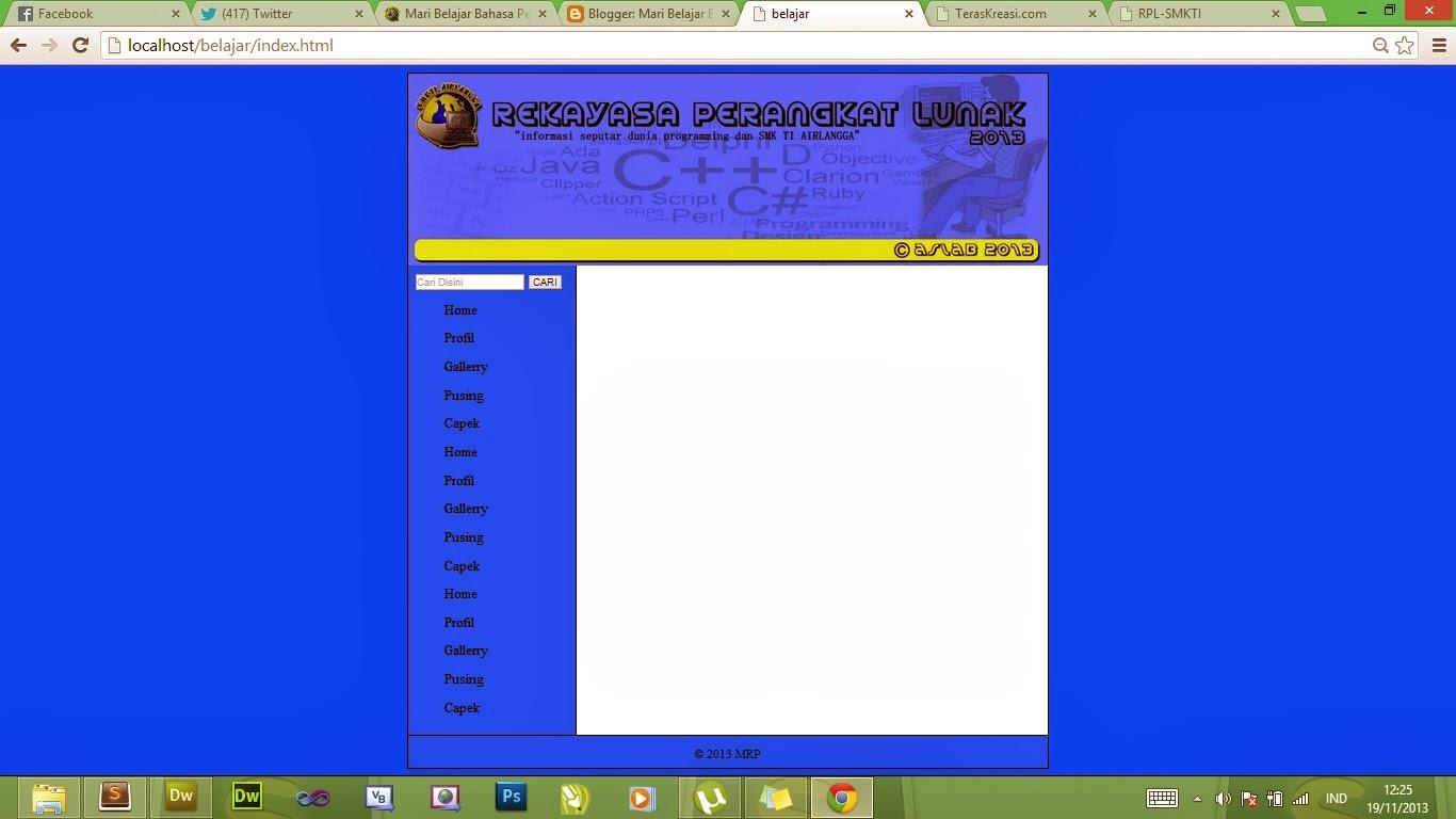 MemBuat Kerangka Website Sederhana Dengan Tag HTML 5 & CSS ...