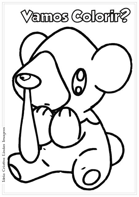 Desenho Pokémon Cubchoo para colorir