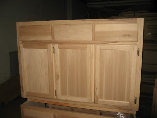 Blue Ridge Surplus Hickory Unfinished Cabinets