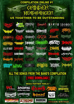 "GRINDER HEADBANGER"" ONLINE COMPILATION #1 "" US TOGETHER TO BE OUTSTANDING"