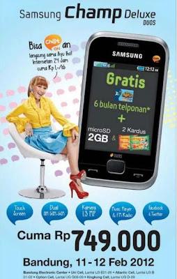 Samsung Champ Deluxe Duos C3312 promo harga dan spesifikasi