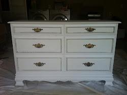 White Victorian Style Dresser **SOLD**