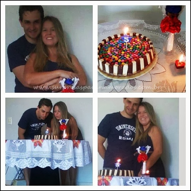 bolo aniversário de 5 anos de namoro