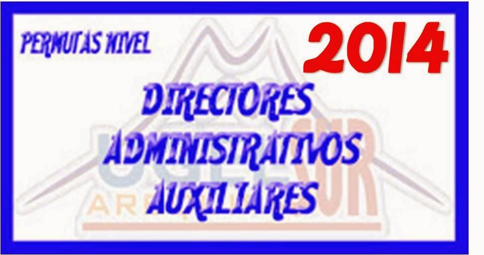 PERMUTAS: DIRECTORES, ADMINISTRATIVOS Y AUX. EDUCACIÓN