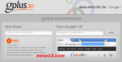 gplus.to a url short for google+