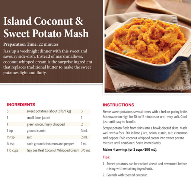 coconut sweet potato mash
