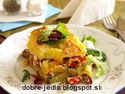 Zapekané zemiaky s hubami - recept