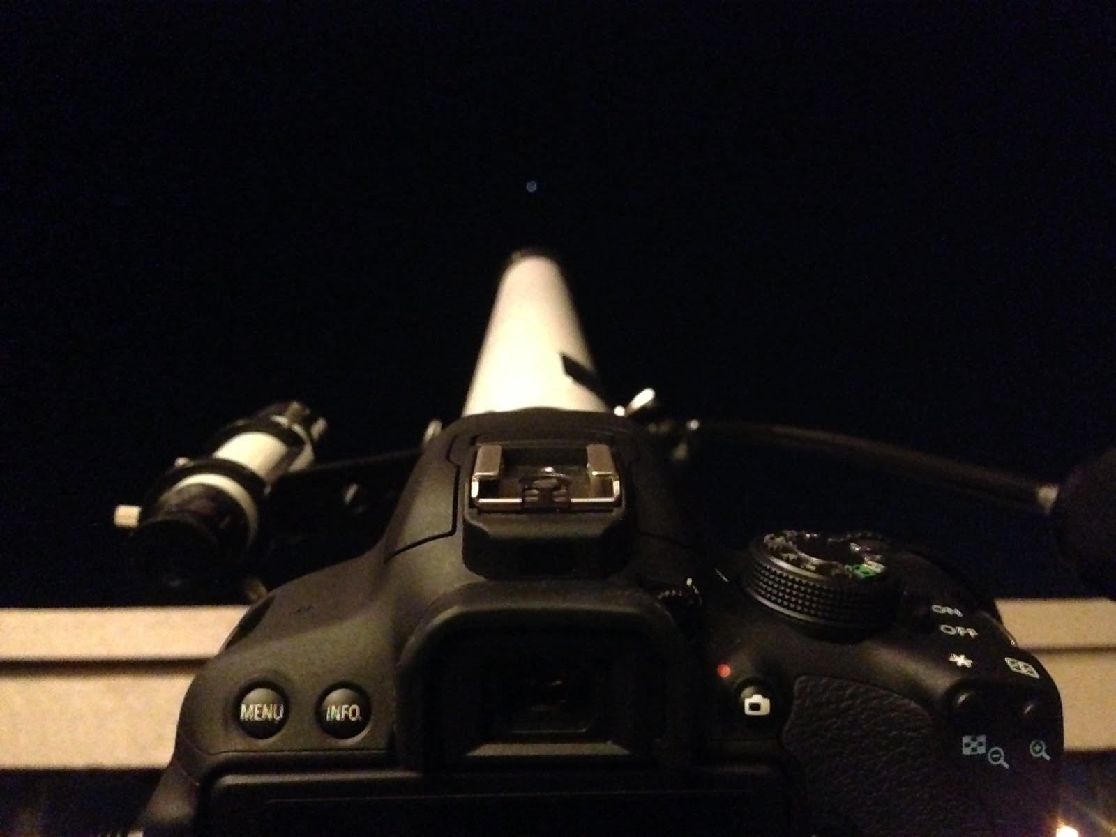 DSLR attached to telescope