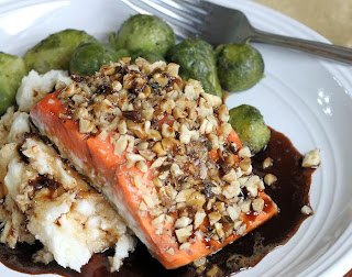Walnut Crusted Salmon with Guinness Reduction | St. Patricks Day Recipe