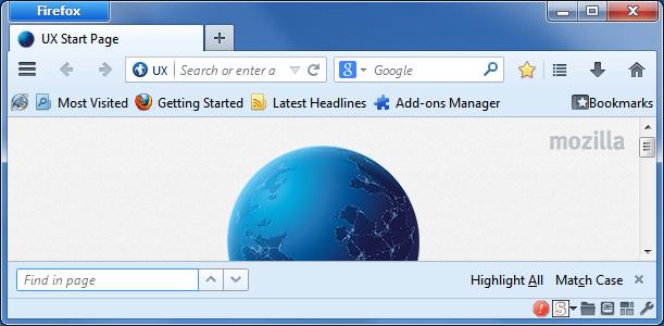 Firefox Find Bar