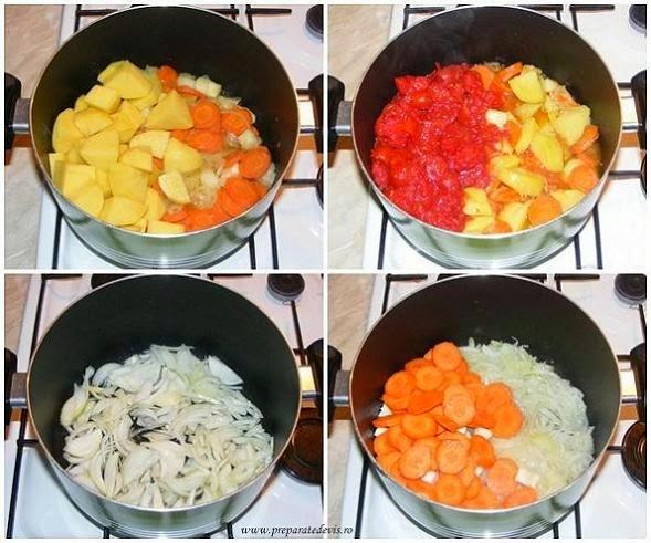 preparare ghiveci de post din legume, preparare tocana de post din legume, retete culinare, retete de post, mancaruri de post, retete de mancare, cum se face ghiveci de legume, preparate culinare, retete cu legume, preparate din legume,