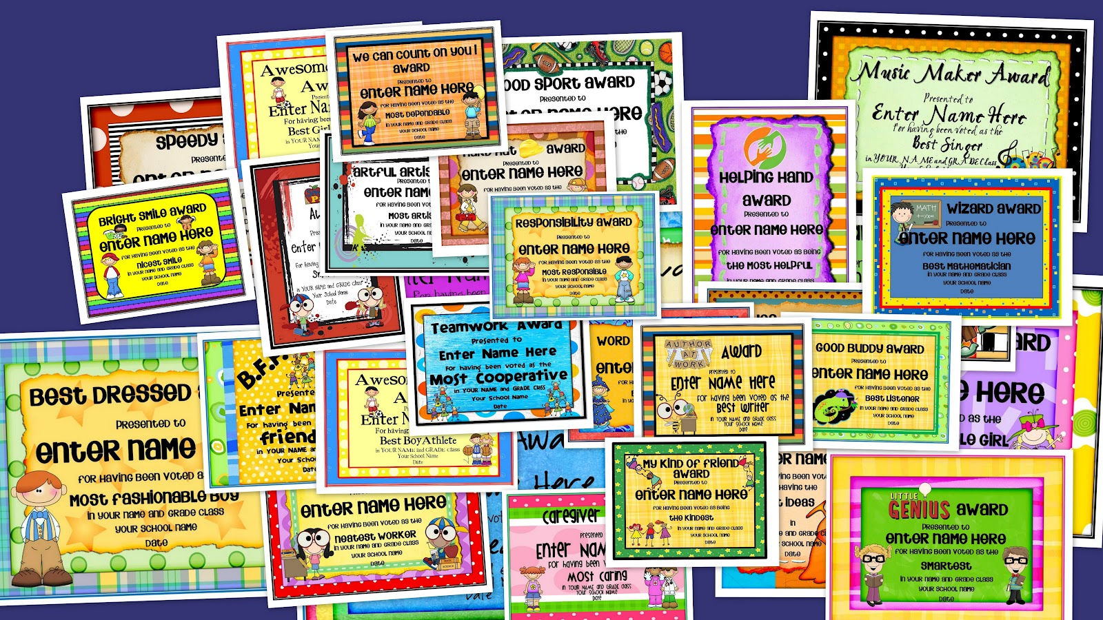 free printable end of year awards for students  Confessions of a Teaching Junkie: End-of-the-Year Award Certificates