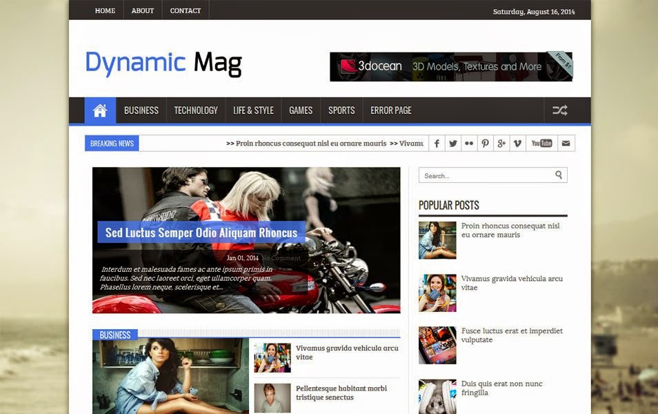 Free Responsive Blogger Templates ~ Dangstars™