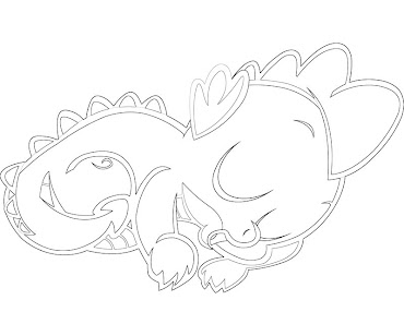 #7 Spike Coloring Page