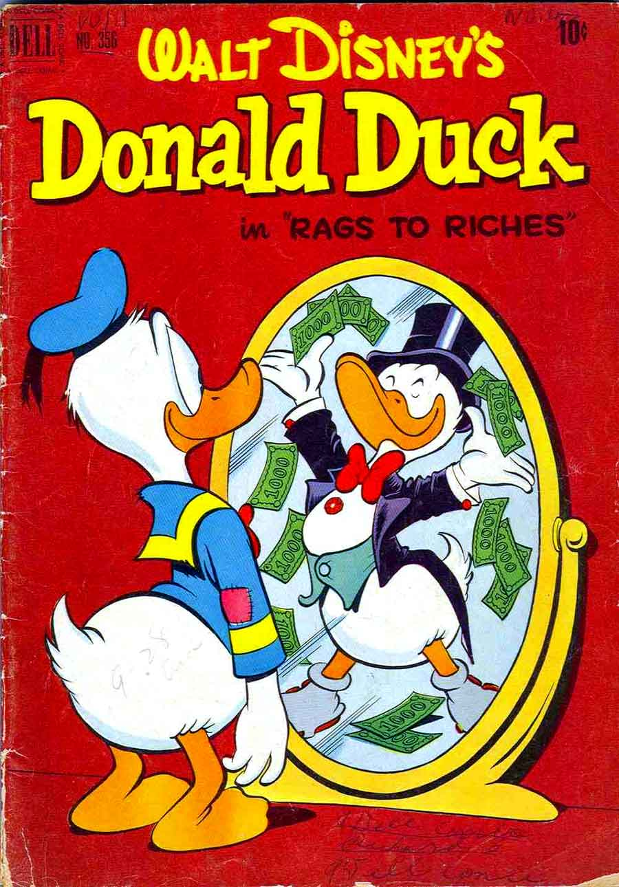 donald duck four color comics v2 356 carl barks cover pencil ink. Black Bedroom Furniture Sets. Home Design Ideas