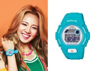 SNSD Hyoyeon Casio Baby G Watch Collection