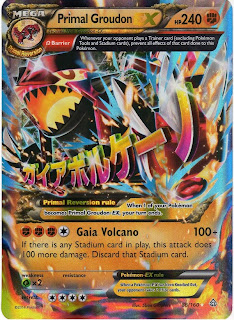 Primal Groudon EX Pokemon Card