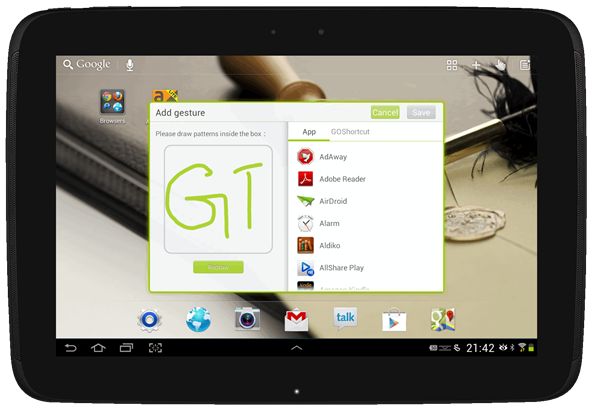 go launcher hd tablet android