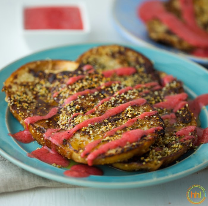 Super-Simple Strawberry-Swirl Vegan French Toast