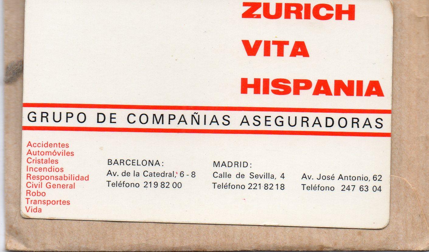Colecciono calendarios zurich seguros 1968 1999 y for Oficinas de adeslas en barcelona