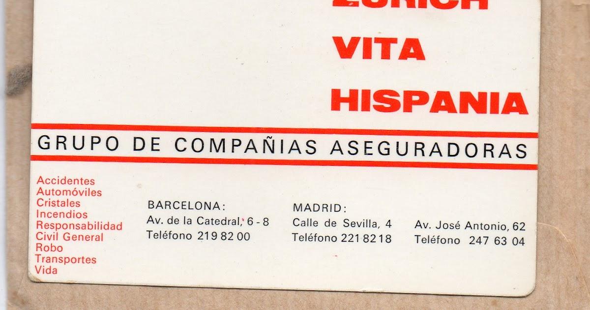 Colecciono calendarios zurich seguros 1968 1999 y adeslas 1992 2008 - Adeslas oficinas barcelona ...