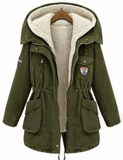 See  more Army Green Hooded Long Sleeve Pockets Two Pieces Coat SKU