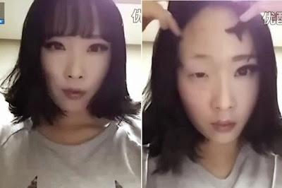 Perbedaan wajah dengan make-up dan tanpa make-up