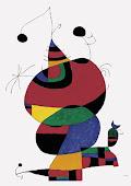 Mujer, pájaro y estrella