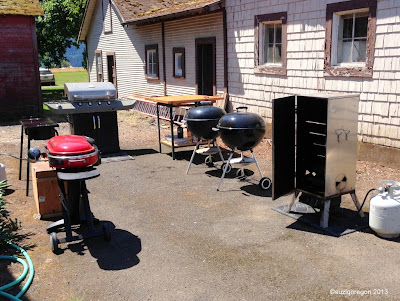 4 grills, a smoker and a griddle