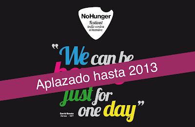 NO HUNGER FESTIVAL INDIE CONTRA EL HAMBRE 2013