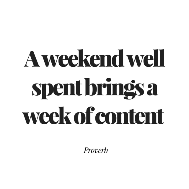 Weekend Links, Quote, Project Soiree