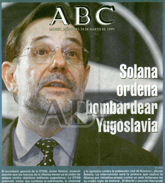De cómo se vende un conflicto. Cómo la OTAN se inventó la necesidad de bombardear Yugoslavia