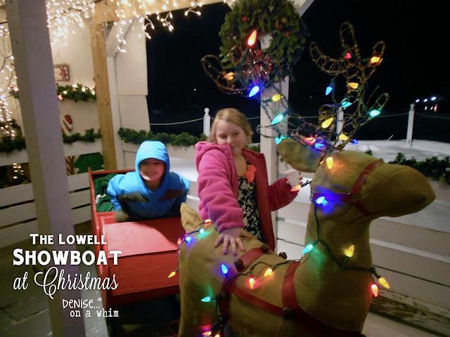 On the Lowell Showboat at Christmas via http://deniseonawhim.blogspot.com