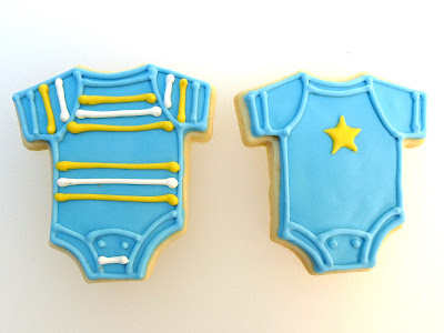 Baby Shower Onesie Cookies by Nina's Show & Tell