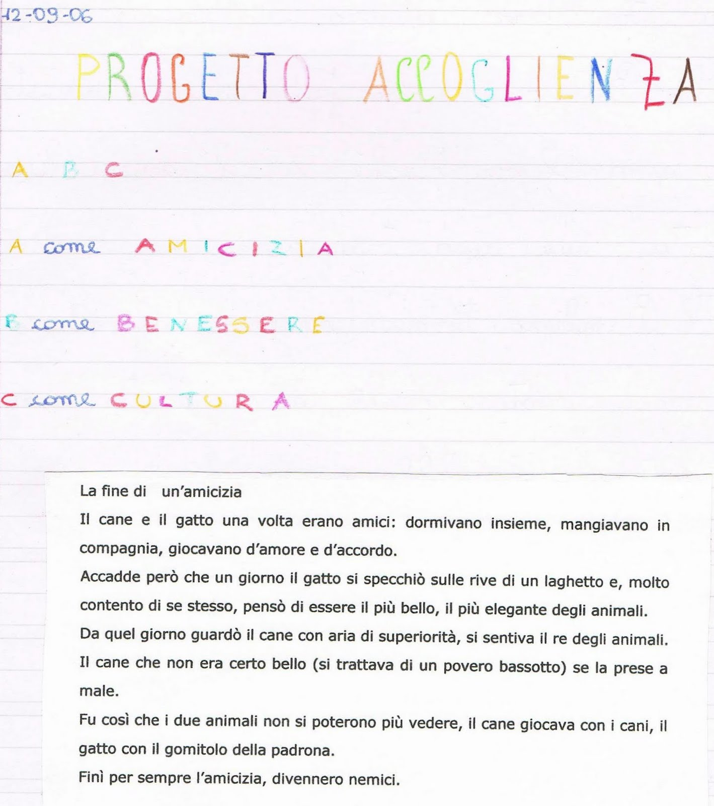 Estremamente Primi giorni di scuola in classe quarta - italiano PS14