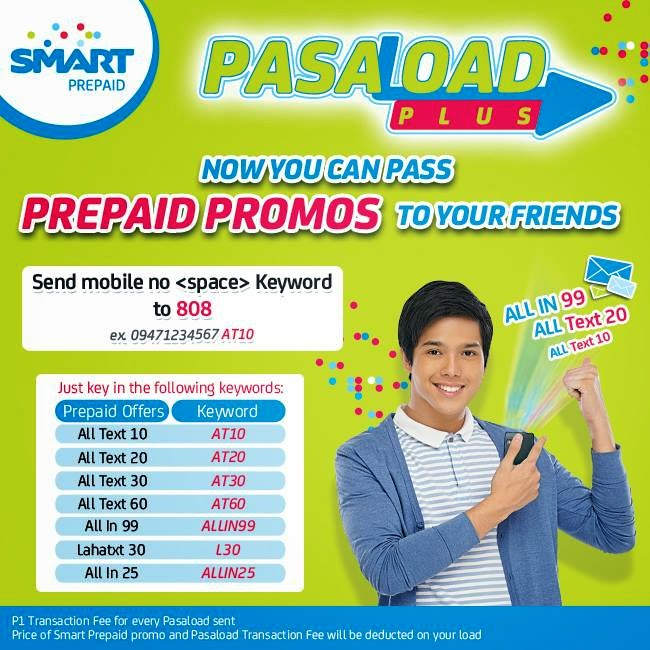 Pass Prepaid Promos to Your Friends with Smart Pasaload Plus