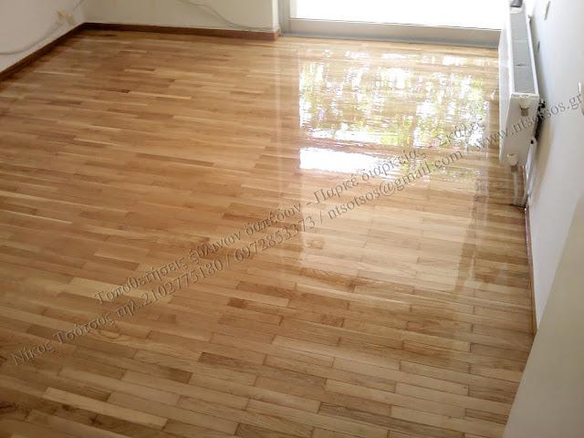 Γυάλισμα σε ξύλινα πατώματα - Παρκέ διαρκείας