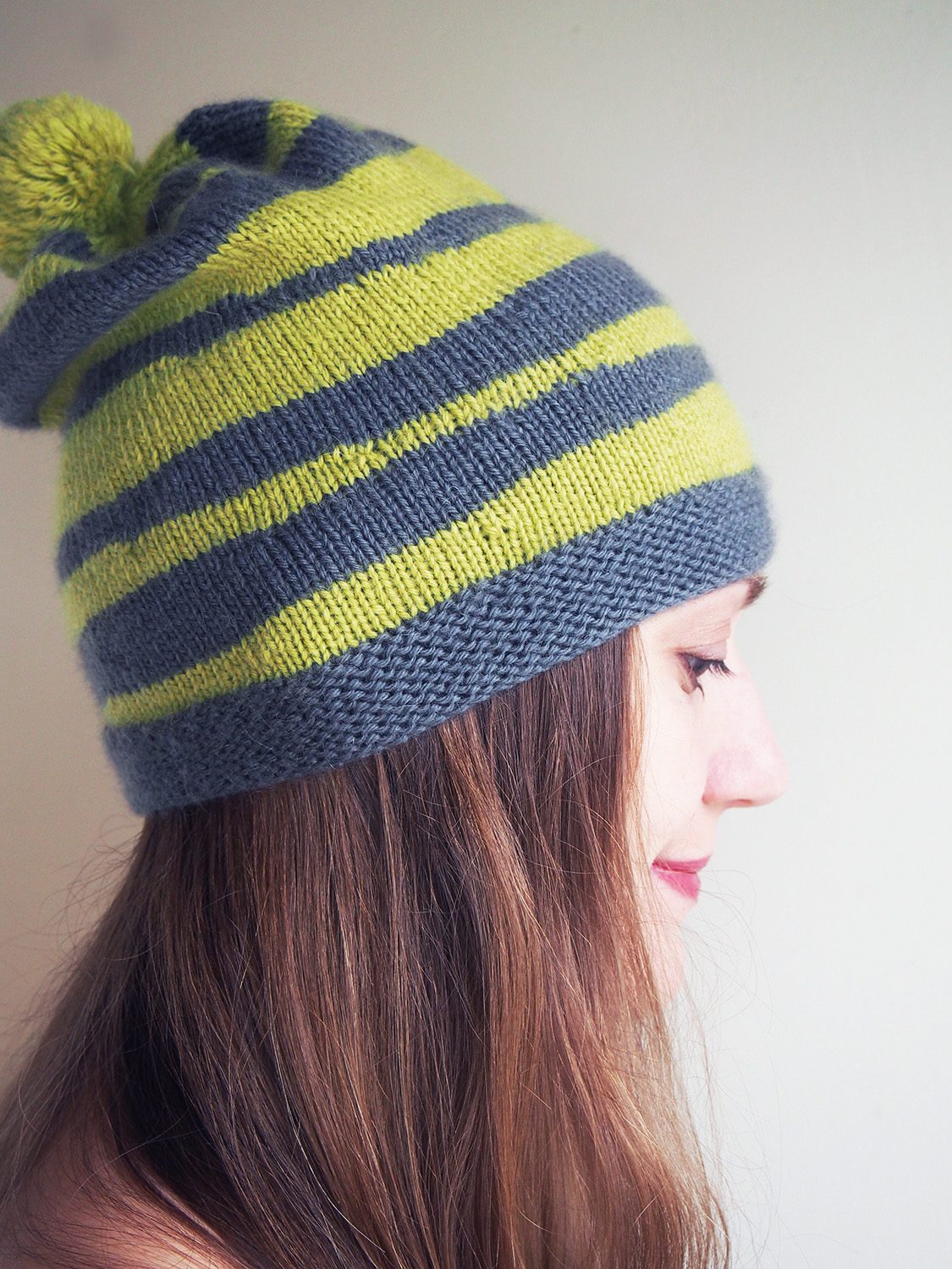 Wonky in More Ways Than One -- Brindled Hat by Woolly Wormhead