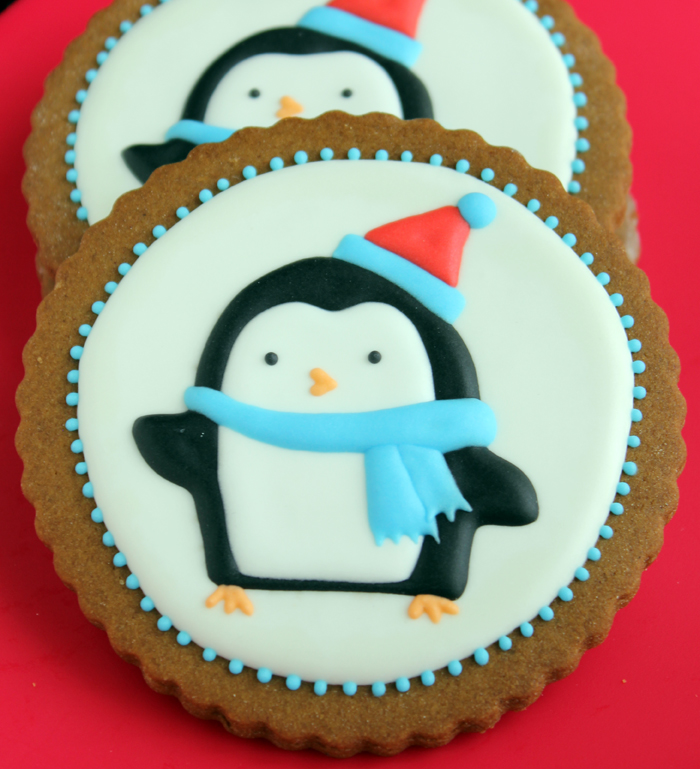 Penguins On A Cookie Christmas Cookie Tutorial Gwen S Kitchen