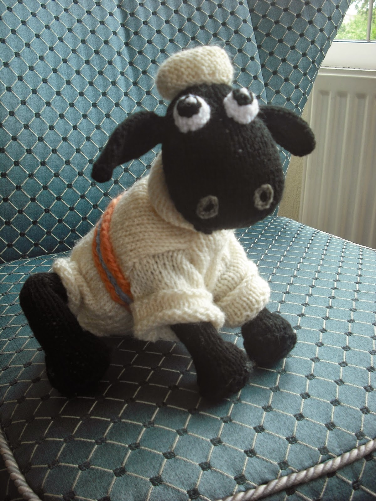 Pattern For Knitted Baby Hats : Wool - n - Art: SHAUN THE SHEEP