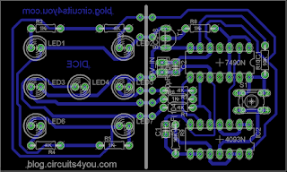 Electronic Dice PCB Layout