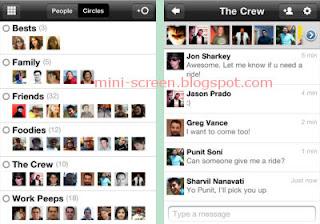 Google+ Social Network Free iPhone App Interface