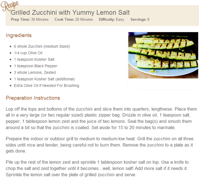 [PALEO] Grilled Zucchini with Yummy Lemon Salt | The Best ...