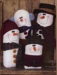 patrones de munecos de nieve en fieltro